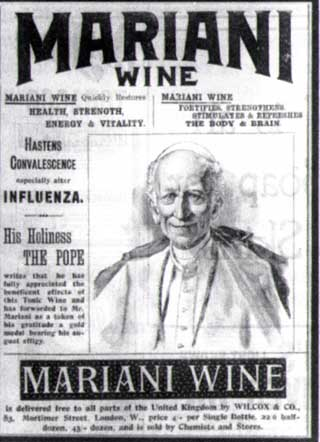 photo of the Pope Leo XIII and Vin Mariani